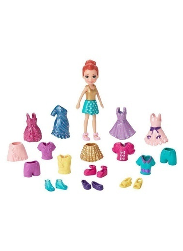 Polly Pocket ve Kıyafetleri Oyun Seti GFT97-GFV01 Renkli